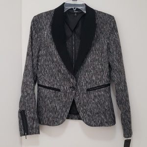 Mossimo grey & black tweed jacket